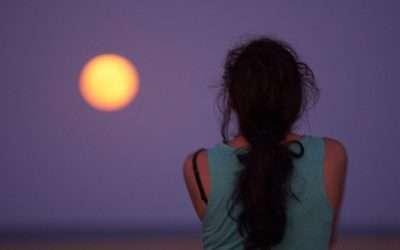Lluna plena a la Gola del Ter